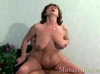 Aroused muscular stud does granny