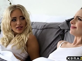 Teen Kimmy Granger fucks her friend and her big dick stepdad