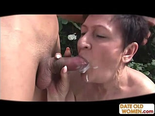 80 year old granny fuck outdoors