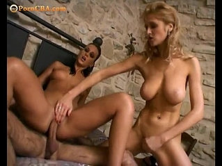 Anal two girls one cock