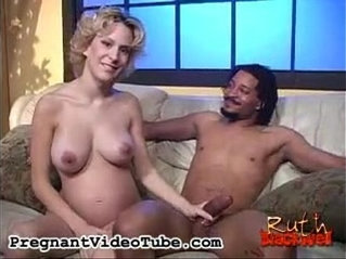 Blonde pregnant whore Ruth Blackwell loves black cock