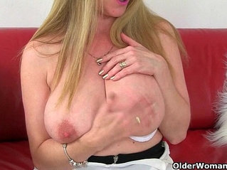 British milfs Lily and Amanda can't hide their nylon fetish