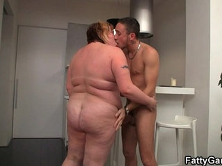 BBW loves sucking and fucking his cock