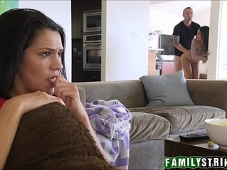 Step Sister Pleasures Brother In Front Of Mom