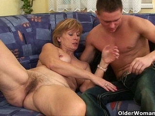 Nothing better that shooting your cum on mom's body